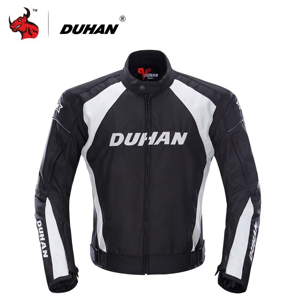 Духан мотоциклетная куртка Мотокросс костюмы куртка и штаны байкерская куртка защитный Шестерни Броня мотогонок куртки