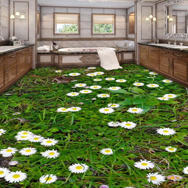 Free Shipping non-slip anti-skidding lifelike bathroom 3D Floor living room shopping mall lobby office decoration wallpaper mura free shipping waterfall hawthorn carp 3d outdoor flooring non slip shopping mall living room bathroom lobby flooring mural