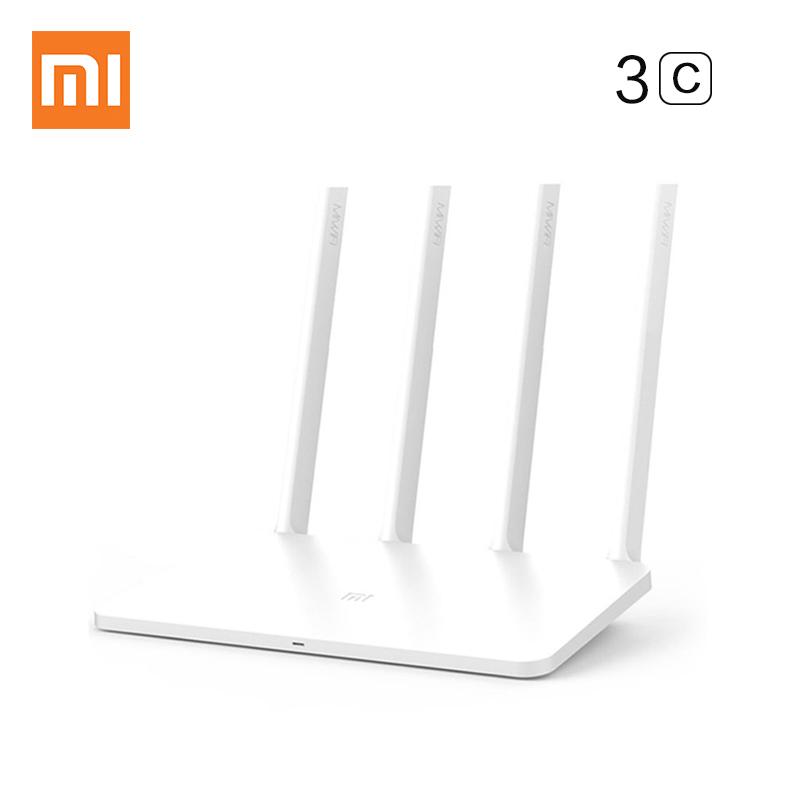 Prix pour Xiaomi WIFI Routeur 3c Anglais Version UE Plug 300 Mbps WiFi Répéteur 2.4G 64 MB Double Bande APP Contrôle WiFi Sans Fil Routeurs