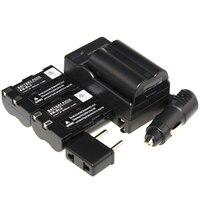 Vendita calda 3 pz batteria + caricabatterie en-el3 en el3 enel3 ricaricabile batterie batteria della macchina fotografica per nikon d70s d70 d5