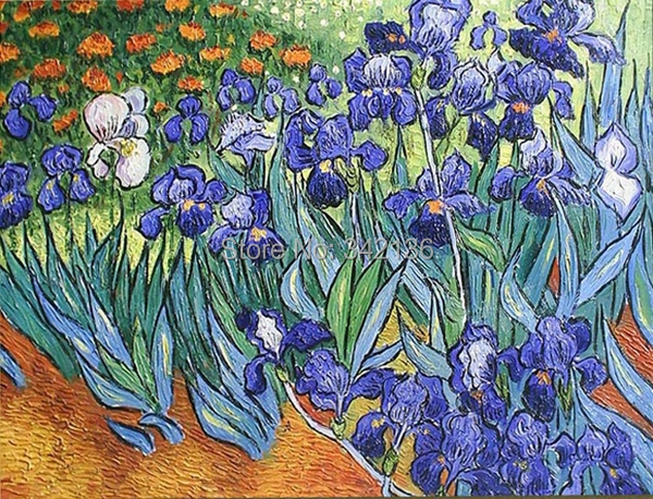 Iris peinture l 39 huile par van gogh reproduction peinture l 39 huile sur toile photos de no l - Peinture a l huile van gogh ...