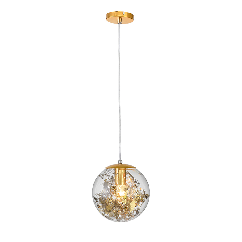 Nordic Glass LED Chandelier Ball LED Pendant Lamps Lights Clear Glass Lampshade Decor Luminaire Restaurant Hanging Lamp Fixtures square corners hanging antique copper 2 candelabra sockets clear glass