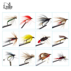 Image 3 - 110 pcs Dry Wet Fly Lures With Fly Waterproof Box Trout Lures Fly Fishing Bait Lure Fishing Tackle