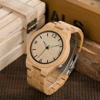 2017 Logo Custmized BOBO VOGEL Natuurlijke Bamboe Houten Horloges Mannen Japan Beweging Klok relogio masculino B-D27