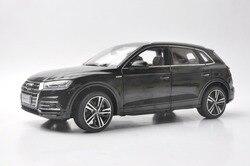 1:18 литая под давлением модель для Audi Q5L Q5 2018 черный внедорожный игрушечный автомобиль из сплава, миниатюрная Коллекция подарков