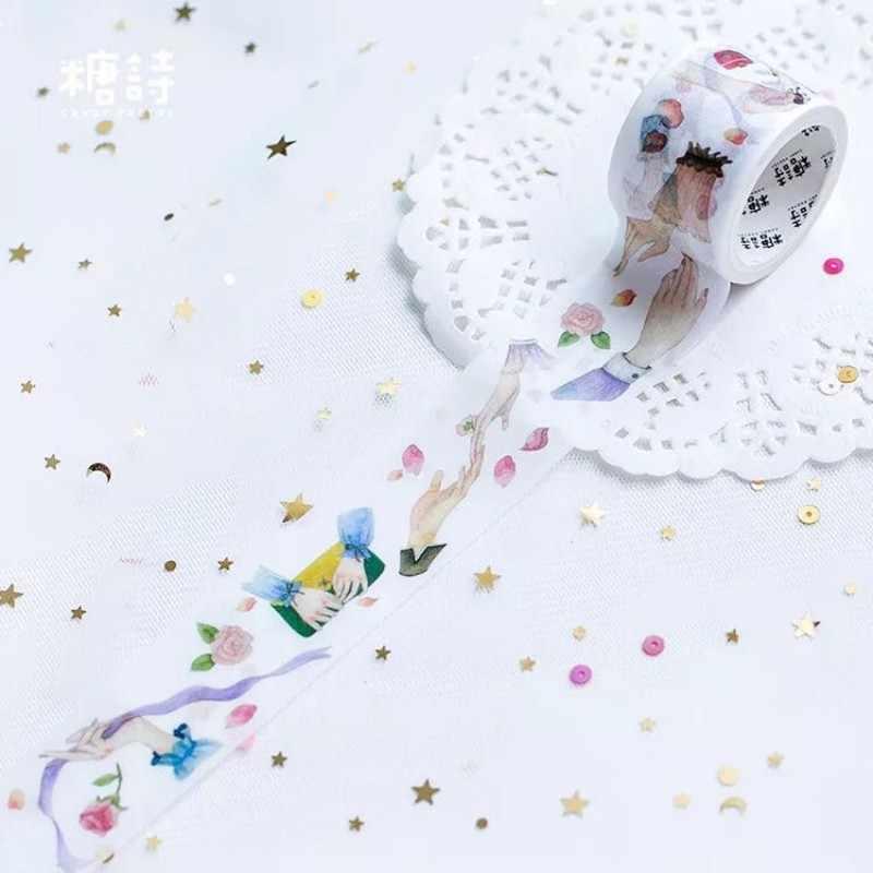 3 Cm * 5 M Wali Indah Jari Washi Tape Anak-anak DIY Diary Dekorasi Masking Tape Kawaii Stationery Scrapbooking Alat