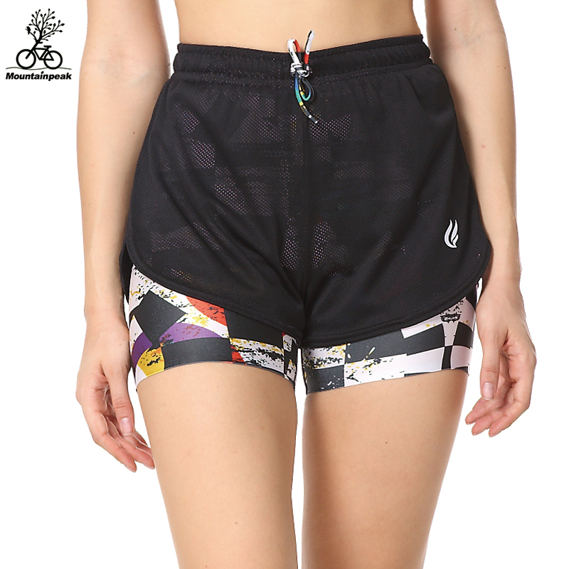 Mountainpeak Hot Women Running Shorts 2 In 1 Running Tights Short 2017 Gym Shorts Fitness Running Shorts Female Multicolor