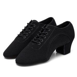Image 5 - Bottom scarpe latine uomo tela sport scarpe da ballo neutre donna Oxford tessuto scarpe da ginnastica da ballo latino scarpe Oxford misura grande