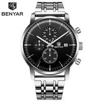 BENYAR Horloge Mannen Waterdichte Mode Luxe Erkek kol saati Sport Horloge Mannen Horloge relogio masculino reloj hombre 2019-in Quartz Horloges van Horloges op
