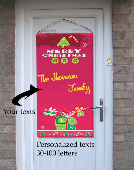 Oh ... & Christmas Photo Door Banner \u2013 Merry Christmas And Happy New Year 2018