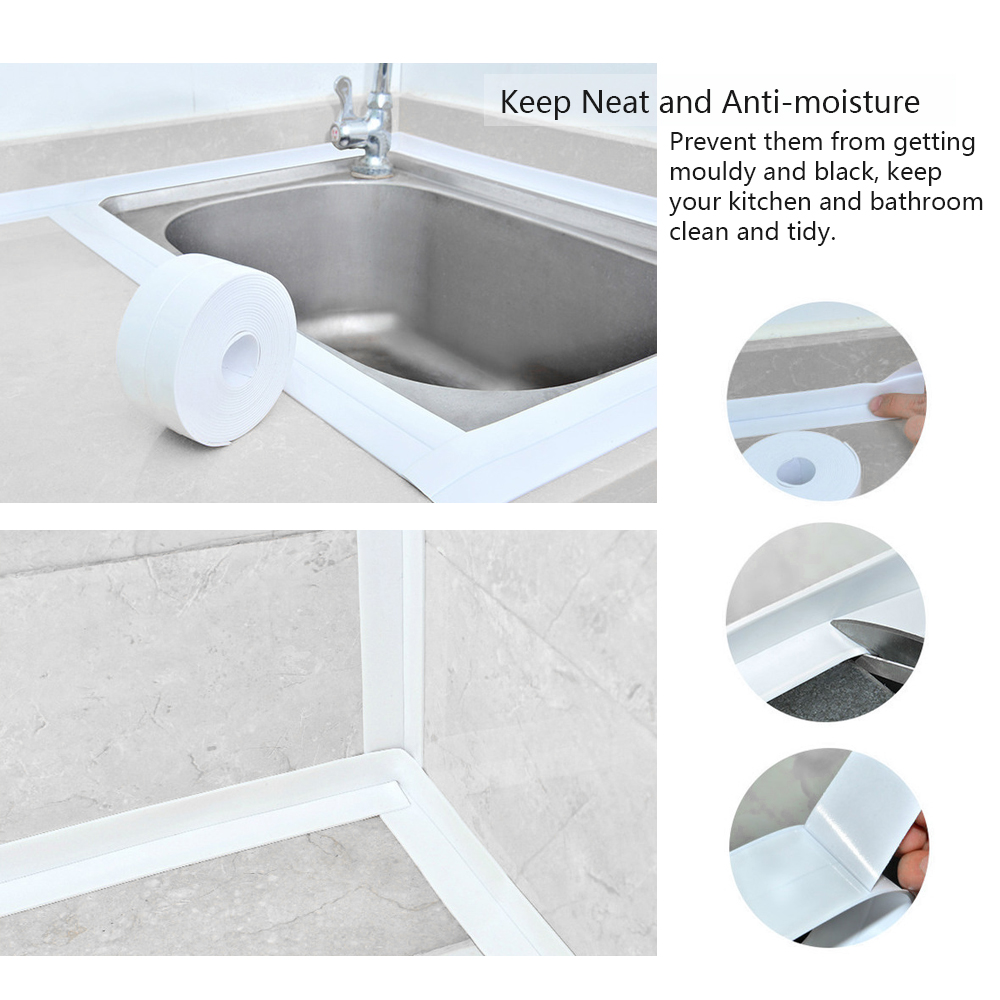 Self Adhesive Kitchen Waterproof Sticker Anti-moisture Strip Bath Wall Stickers