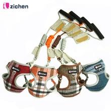 Zichen Pet Поводок для собаки отрегулировать ковбой волокна хлопка тканевые Никель Пряжка собаки жгут жилет двойное укрепление 6 Цвет