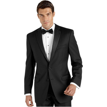 New Arrival Men Tuxedos Black Wedding Suits For Men Two Buttons Men Suits Slim Fit Notched Lapel Grooms Wedding Suit
