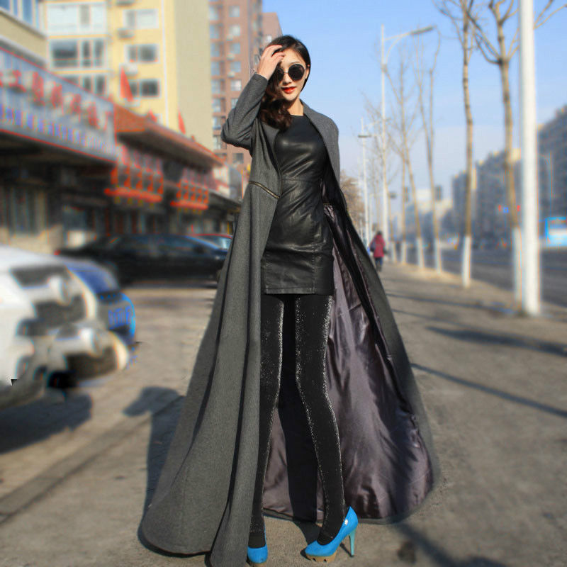 Online Shop Women Floor Length Coat New 2017 Spring Jackets And Coats Extra  Long Thin Wool Cashmere Coat Manteau Windbreaker | Aliexpress Mobile