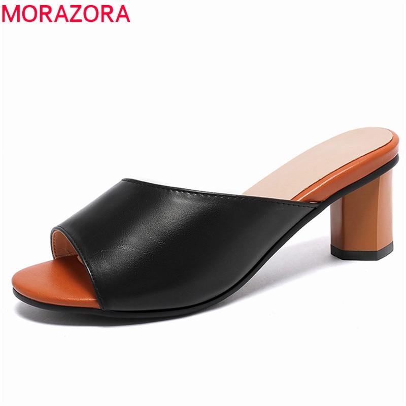 2019 Moda Morazora 2019 Più Il Formato 44 Sandali Delle Donne Open Toe Scarpe Tacchi Alti Elegante Di Modo Del Partito Scarpe Da Sposa Estate Pistone Della Donna