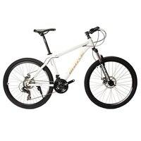 MAKE Mountain Bike Steel Frame 24 Speed Shimano 26 Wheel Mechanical Disc Brakes MTB