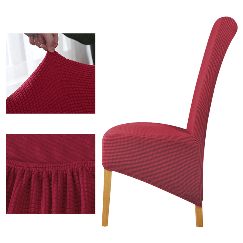 XL Size Long Back Plaids Chairs Covers Polar Fleece Fabric For Wedding Seats New