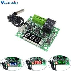 W1209 تيار مستمر 12 فولت الأحمر LED الحرارة الرقمية كول ترموستات التحكم في درجة الحرارة ميزان الحرارة الحرارية تحكم وحدة تبديل + NTC الاستشعار