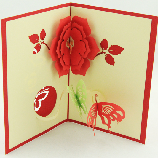 2016 new years day gift card 3d greeting card handmade thank you card free shipping in cards invitations from home garden on aliexpresscom alibaba