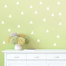 48pcs Triangles Wall Sticker Kids Room Wall decoration Wall Decals Home Decor DIY Peel and Stick art Decoration Free Shipping