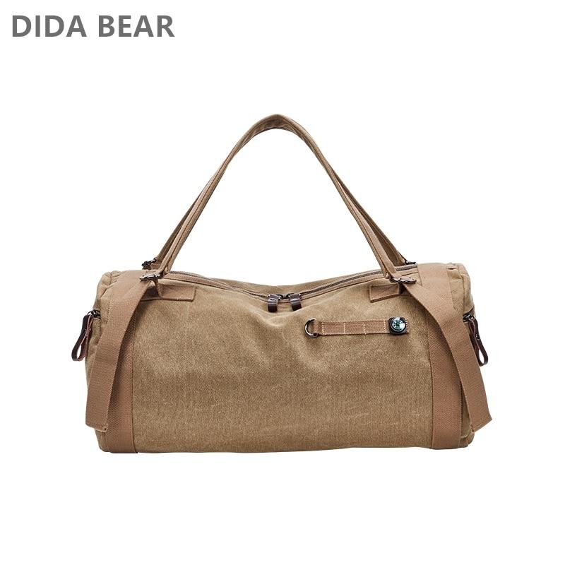 DIDABEAR Canvas Travel Bag Men Handbags Male Designer Large Capacity  Leisure Shoulder Bags Man Multifunction Mountaineering Bag 004daaf63e7e4