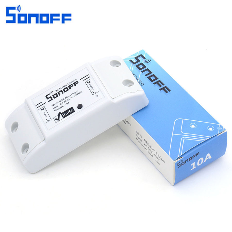 Original Sonoff 10A Wifi Smart Switch Remote Wireless Timer Light Switch Intelligent Universal DIY Smart Home Automation Module