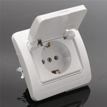 New Power Supply Socket  Outlet Plug Connector Waterproof 250V 16A German Wall European EU Standard