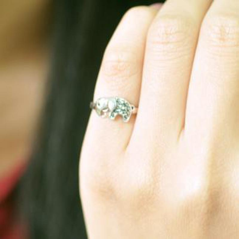 Sweet Sterling Silver Elephant Ring