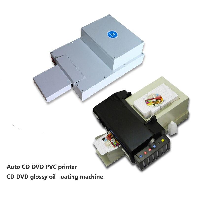 Imprimante PVC CD DVD automatique la moins chère avec 1 set machine de revêtement d'huile brillante Doggy à vendre