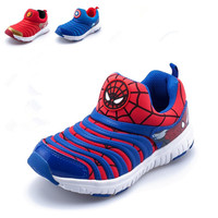 Spiderman Ironman American Captain Boy Shoe Children Breathable Net Shoe Cartoon Casual Boy and Girl Caterpillar Sport shoe