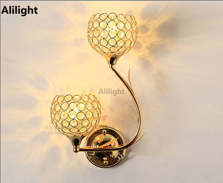 K9 crystal wall lamp sconces modern luxury beautiful wall lights for k9 crystal wall lamp sconces modern luxury beautiful wall lights for bedroom living room ac home indoor lighting decor fixtures in wall lamps from lights aloadofball Choice Image