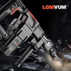Image 5 - LOMVUM marteau perceuse Impact 26MM marteau de démolition Indurstial 1200W disjoncteur électrique disjoncteur AC outils électriques 50hz