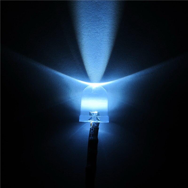 50 шт. 10 мм белый светодиод 3-12 В DC Предварительно проводной светодиод с круглым 20 см LED свет лампы для проекта автомобиля DIY