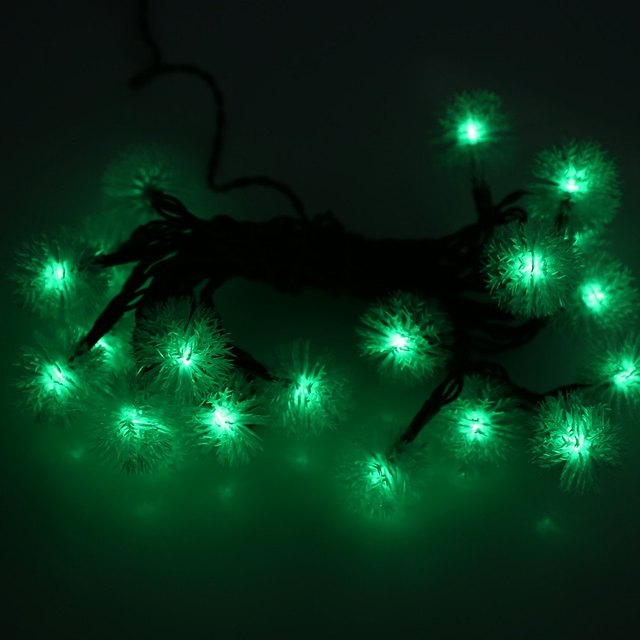 20 Leds Green Ball Led Solar Ed 3m String Lights For Patio Holiday Luminaria Xmas