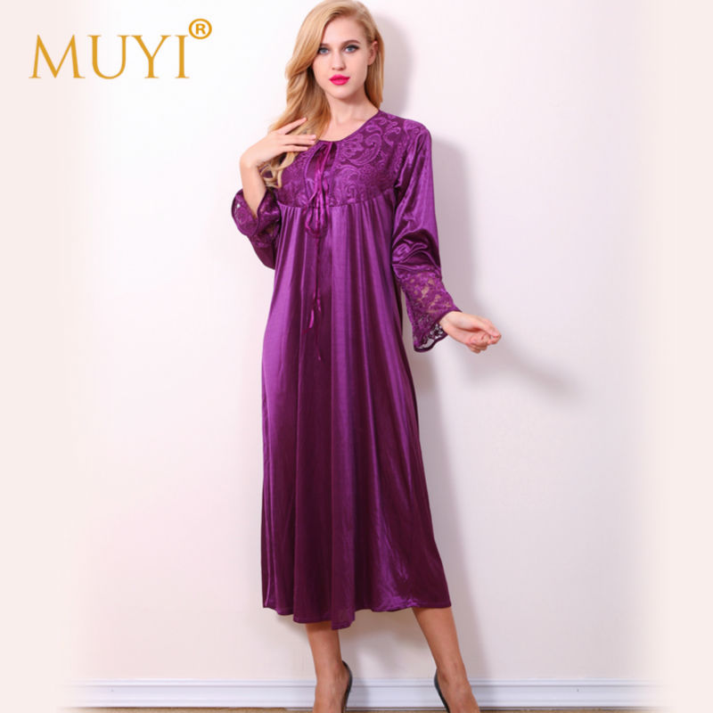 Nightwear Long Sleepwear Women Nightgowns Woman Sleepwear Robe Night ...