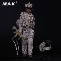 Collectible Full Set Mini Times M006 1/6 Scale US Navy SEAL Team Six DEVGRU With Dog Action Figure Accessory for Gift
