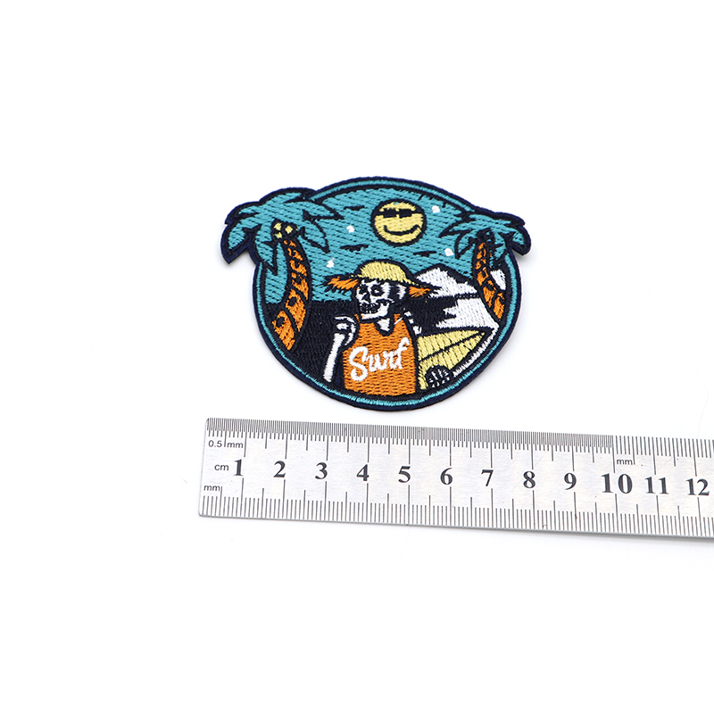 Summer Travel Sea Beach Skull Embroidery Patch Iron On Patches For Clothes DIY Accessory Bag Applique Armband Book Stickers S33 2