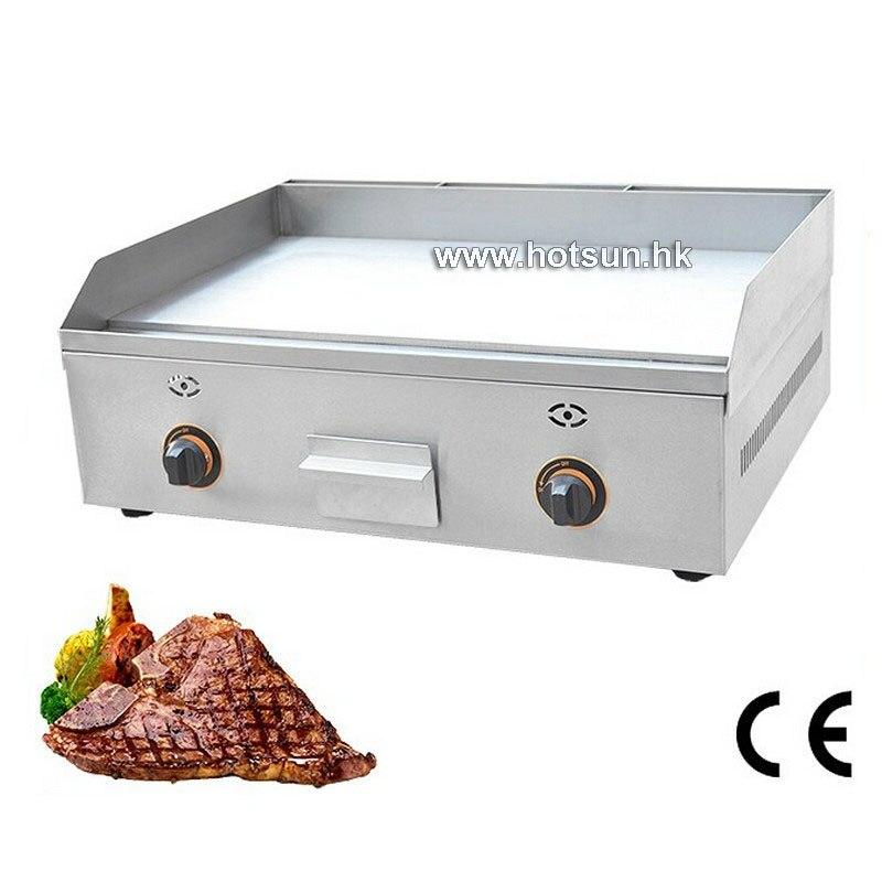 где купить Commercial LPG Gas steak Countertop Flat Top Ribbed Griddle по лучшей цене
