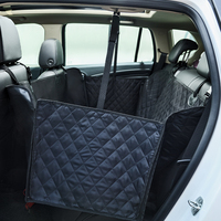 High quality quilted Pet dog Seat Cover for Car Dog Hammock non slip Waterproof Luxurious rear double seated dog mat pet carrier