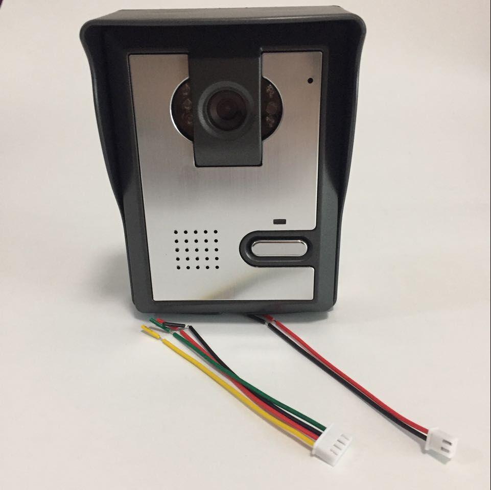 For Wired Video Door Phone Audio Visual Intercom Entry System Villa House Waterproof IR Camera