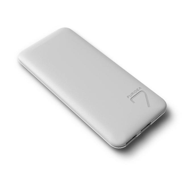 Para iphone 6 s plus 5.5-polegadas puridea s4 banco de potência 6600 mah dupla usb banco de potência fino para iphone ipad samsung-cinza