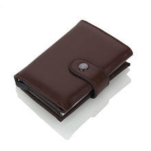 Wholesale 2019 High Quality PU Leather Credit Card Holder RFID New Design Bank Cases Business Pocket