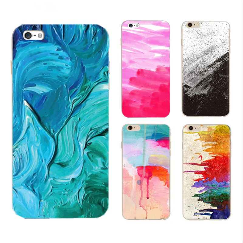 Luxury Graffiti Men Women Watercolor Painted Case For iphone7 7Plus Colorful oil Painting Skin Cover TPU Fundas Capa Shell MN098