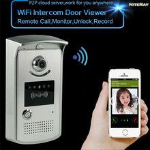 Envío Gratis video de la puerta teléfono y cámara digital WiFi espectador timbre del intercomunicador con cámara ip inalámbrica cámara del ojo de puerta exterior uso