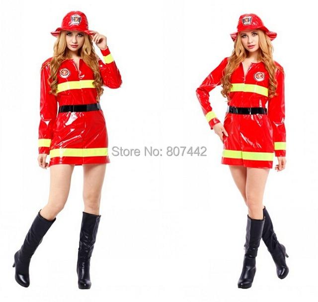 ec0fe9700caecf Kostium cosplay na Halloween; kobieta strażak odzież; dla dorosłych  strażaków ogień garsonka ubrania