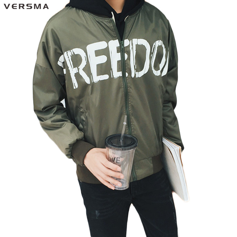 VERSMA 2017 Harujuku GD Kanye West Justin Bieber Oversize Bomber Jackets Coats Men Hip Hop World Peace Baseball Jacket Coat Men