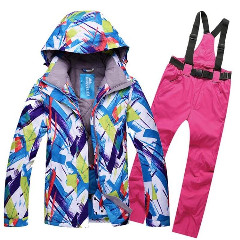 Prix pour Livraison gratuite En Plein Air Coréenne nouveau costume de ski, femmes chaud, épaississement, coupe-vent, imperméable à l'eau, unique et double skis,