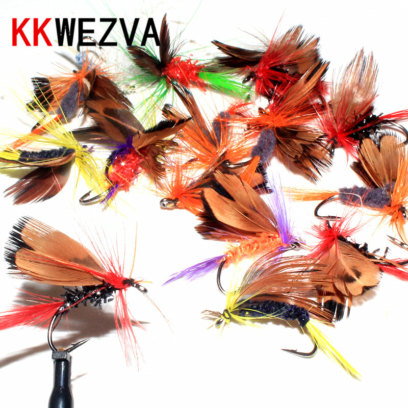KKWEZVA 32pcs Fly Fishing Lure Hooks Butterfly Insects