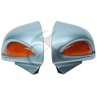 For BMW R1100RT R1150RT R1100 RT R1150 RT Silver Blue Rear mirrors Turn signal цена