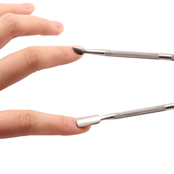 Manicure Pedicure Cuticle Nail Pusher Spoon Gift Present Beauty Tools HS11